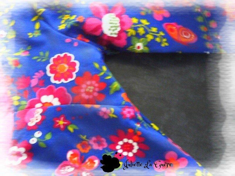 Paisible bleu à fleurs 8