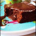 Gâteau au chocolat et son coulis choc