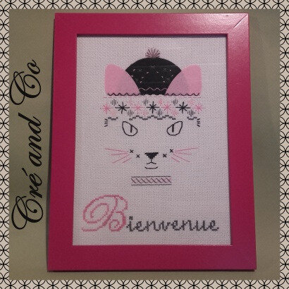 Broderie Chat Fushia