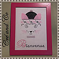 Broderie chat