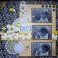 Une petite page noire et jaune pour le challenge cartoscrap de mars
