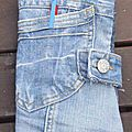 2 trousses en 1 foldingo jean, fold and go denim double pouch