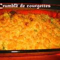 Crumble de courgettes (cyril lignac)