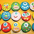 Nos cupcakes monstres pour halloween!
