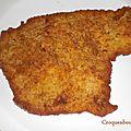 Escalopes de poulet panee a la parmigiana