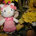 Hello kitty rose pour clémence