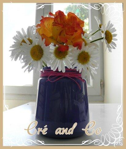 Vase coloré
