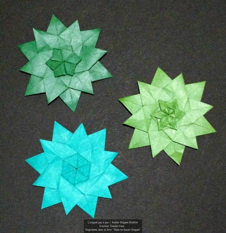 Atelier Origami KitoKito_Fleurs de chanvre 1
