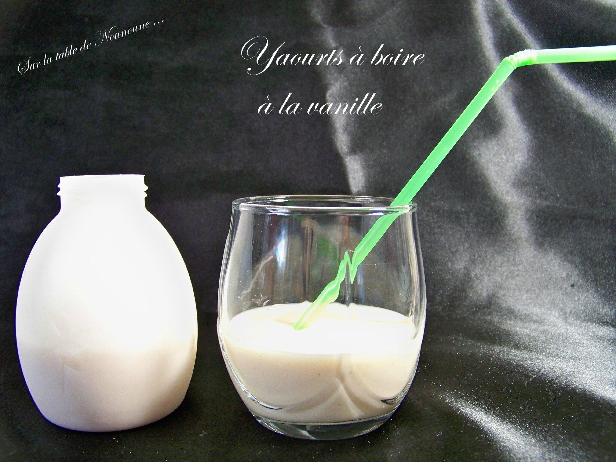Yourts à boire à la vanille