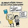 Parents d'élèves contre des chants en arabe