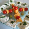 Toasts fromage frais, fine herbes