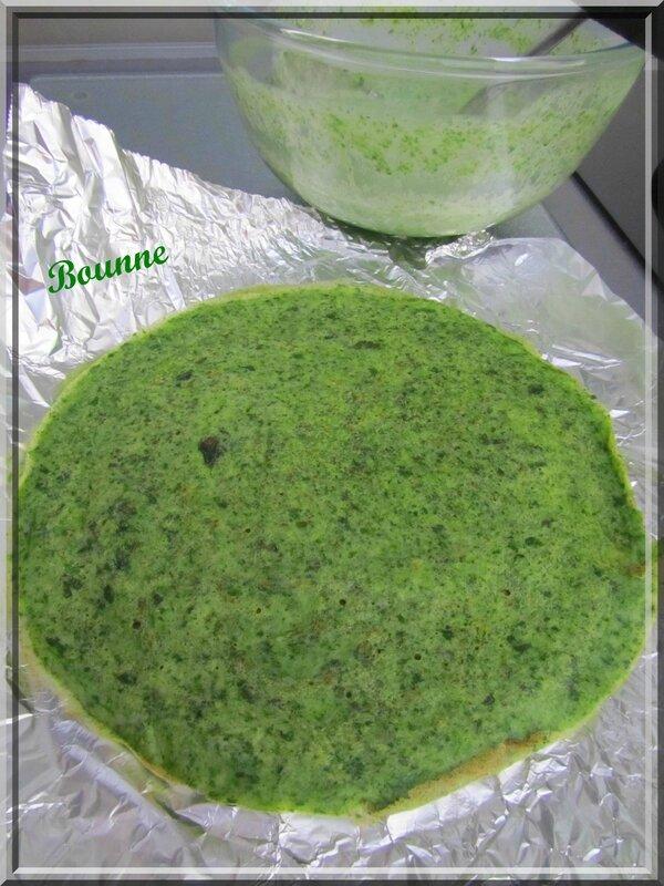 Roulés de crêpes d'épinard au fromage frais (2)