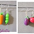 boucles d'oreilles légumes