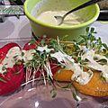 Vinaigrette pour salade de tomates.