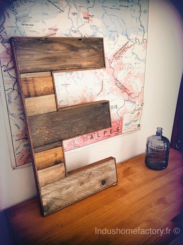 lettre bois deco recycle reclaim wood letters