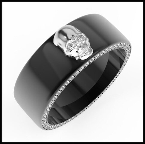 divinescence collection skull bague 2