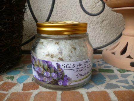 sels de bain à la lavande fine de provence