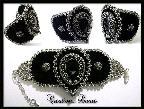 bracelet-brode-noirargent