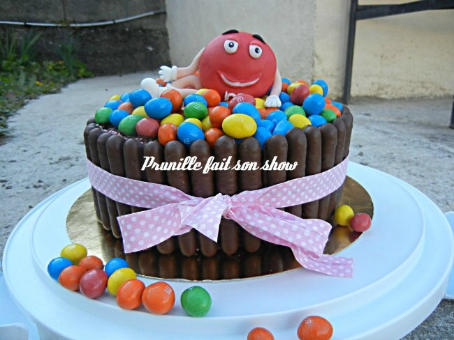 fondant m&m's cake prunille fee