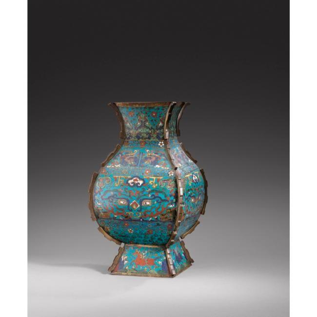 Préférence Brûle-parfum couvert, Vase Hu & Flasque en bronze et émaux  VU74