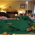 Diner décoration de table thème golf