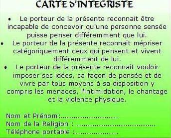 integriste card