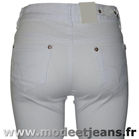 Pantalon jean blanc femme taille normale pantalon femme - Pantalon coupe droite femme pas cher ...