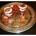 Tiramisu a la fraise en verrine