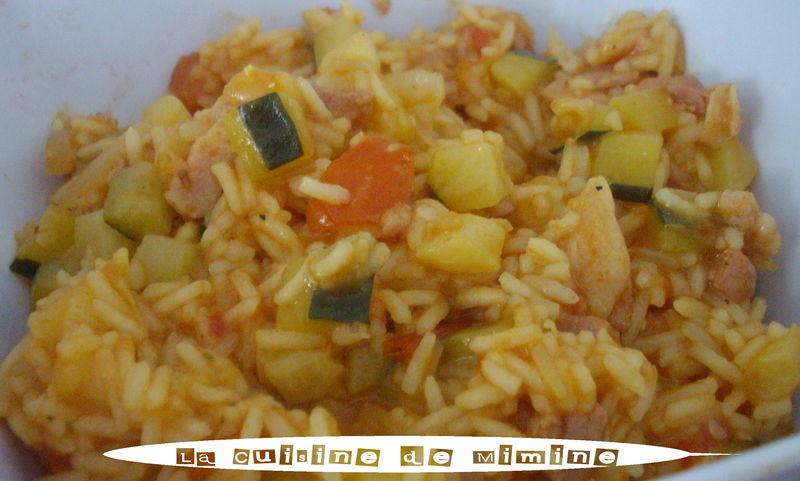 risotto estival aux légumes, facile et rapide - la cuisine de mimine