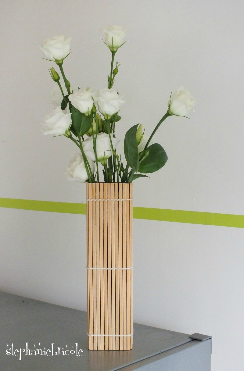 diy d co r cup faire un vase avec un set en bambou st phanie bricole. Black Bedroom Furniture Sets. Home Design Ideas
