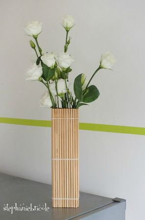 diy d co r cup faire un vase avec un set en bambou. Black Bedroom Furniture Sets. Home Design Ideas