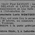 Montocchio Lucie_décès_27.7.1925_Pau_L'Express du Midi