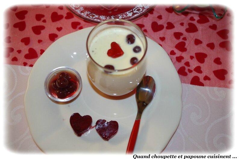 panna-cotta vanille-griottines, coeur gélifié-3527