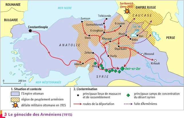 Génocide arménien - Carte