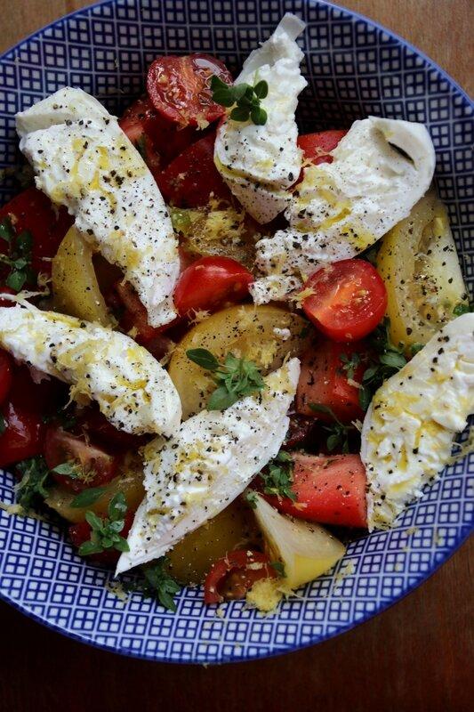 salade tomate burrata citron 1