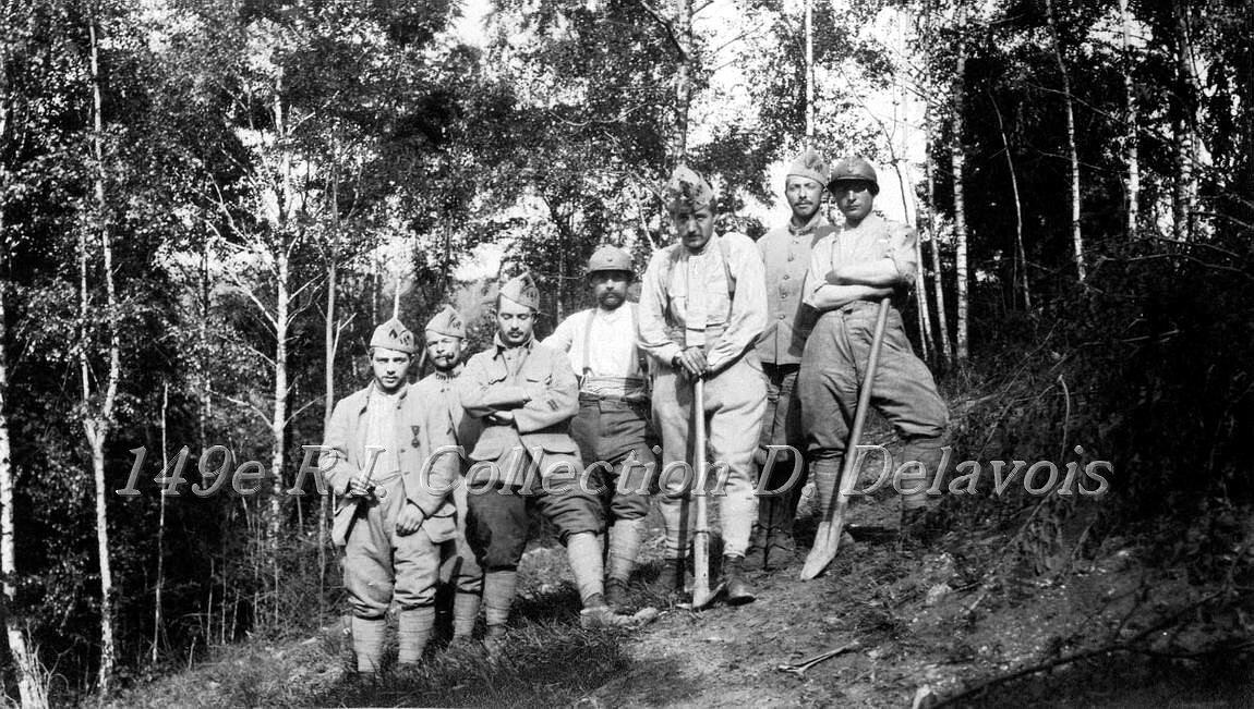 Liaison de la 5e compagnie aux Vervins (juin 1917)