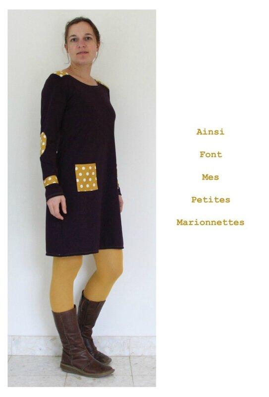 robe violette jaune 6