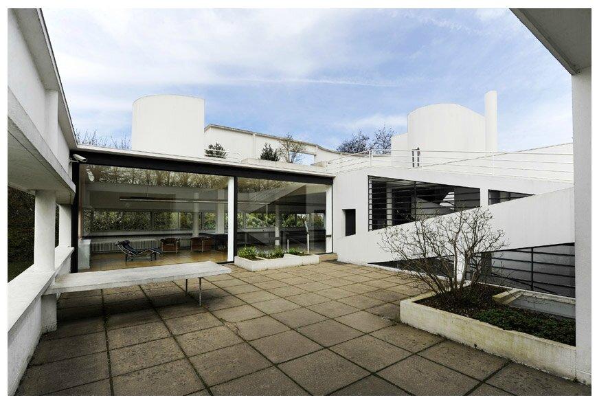 Pin la villa savoye le corbusier et pierre jeanneret poissy sur seine on pint - Salle de bain villa savoye ...