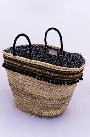 customisez votre panier de plage fa on ibiza la mercerie. Black Bedroom Furniture Sets. Home Design Ideas