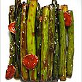 Tiges verts d'ail sauce gochujang