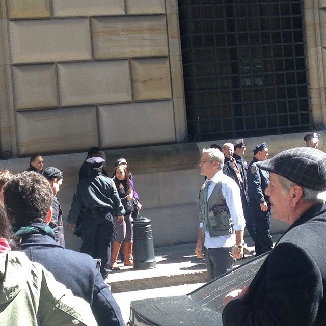 George Clooney on Money Monster Set April 10th & 11th  2015 103439282