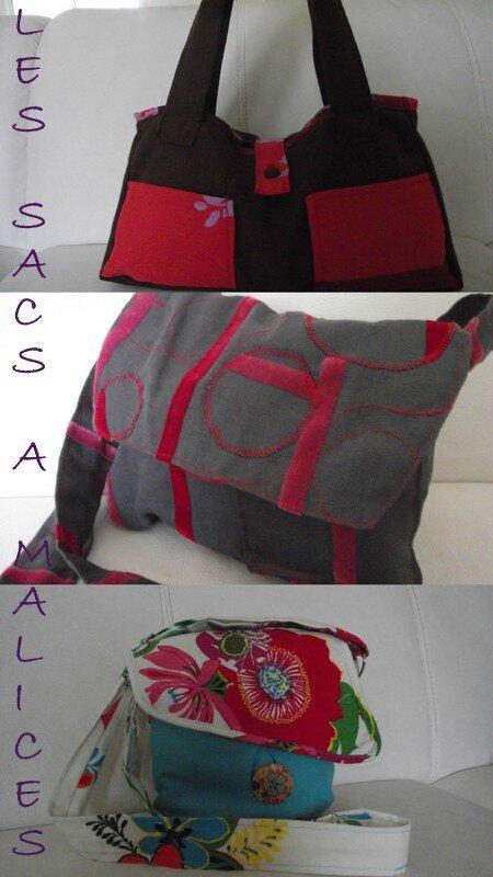 sacs et besaces fait main nouvelles cr ations en ligne les sacs malices. Black Bedroom Furniture Sets. Home Design Ideas