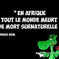 Le deuil en afrique