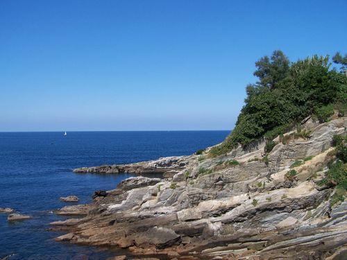 Donostia-île Sta Clara - falaises