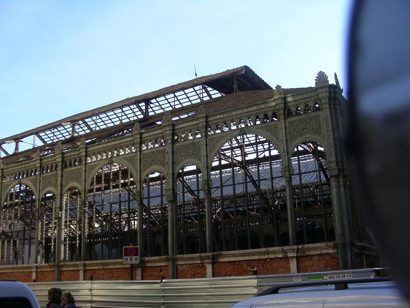 Ancien marché en rénovation