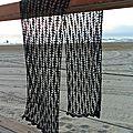 De retour: une écharpe à crochet en soie/ de vuelta: un chal tejido a ganchillo de seda