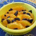 Salade d'oranges et olives confites au sirop de safran