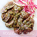 Rognon de veau sauce chimichurri