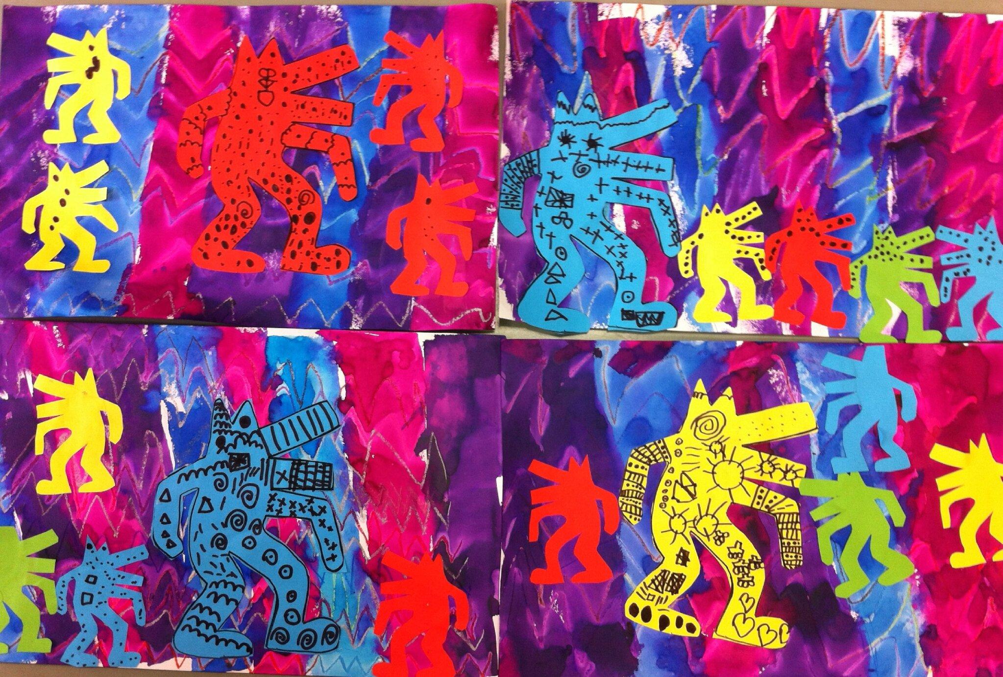 Fabulous Des loups à la manière de Keith Haring - Chez mes petits (et  NN75