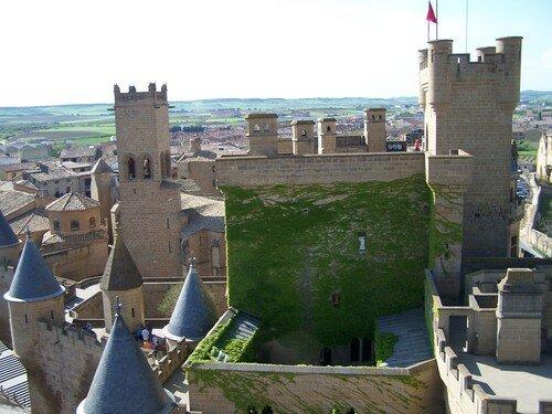 Olite-toits du chateau